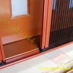 Cấu tạo cửa lưới chống muỗi xếp có ray