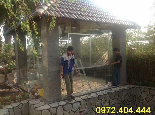 Thi công cửa lưới chống muỗi